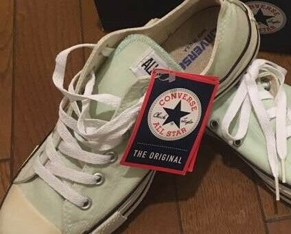 Converse made in USA size8 opal green all star men's ayhletic sneakers rare 8PP
