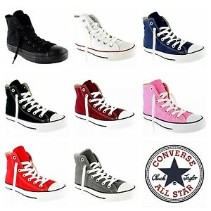 347a10aa566 Converse All Star Hi Tops Mens Womens Unisex High Tops Chuck Taylor ...