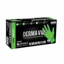 Sas 66551 Derma Vue Powder Free Nitrile Non Latex Gloves Medium 100box