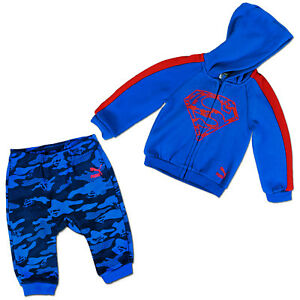 Image is loading Puma-Children-Baby-Superman-Jogger-Tracksuit-Sport-Suit- 25b0874a2ee2