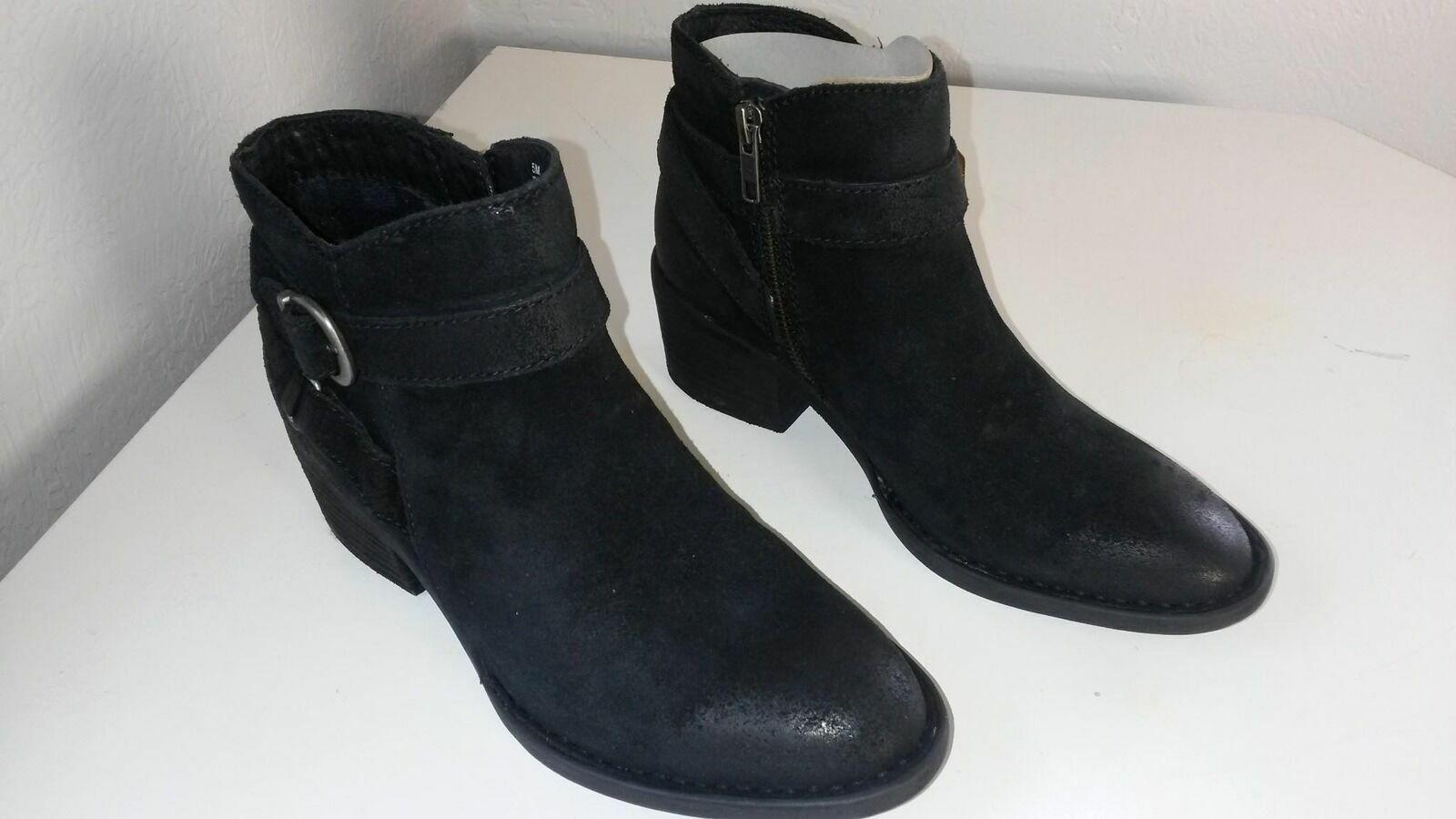 Nacido Para Mujer botas al Tobillo Binghamton negro envejecido tamaño 5M (BR020)