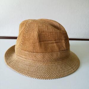 Image is loading Vintage-MCGREGOR-Beige-Corduroy-Fedora-Hat-Size-7- 569f386751f