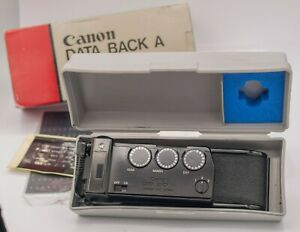 Boxed-Canon-Data-Back-A-For-Canon-FD-A-1-AE-1-Program-AT-1-SLR-Cameras