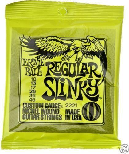 ERNIE BALL REGULAR SLINKY ELECTRIC GUITAR STRINGS 10-46