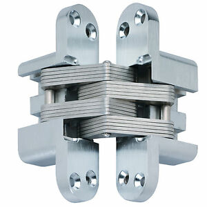 Kratos Mortise Mount Invisible Concealed Hidden Door Hinge Chrome FREE SHIP! 2
