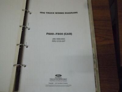 1992 Ford F600 F800 CAB Wiring Diagram Schematic Manual ...