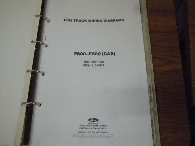 1992 Ford F600 F800 Cab Wiring Diagram Schematic Manual