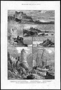 1884-Antique-Print-TYNE-AND-WEAR-Newcastle-Upon-Tyne-Archaeological-114