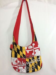 d0dfdf424bb14 Image is loading ROBIN-RUTH-Maryland-Souvenir-Flag-Crossbody-Bag-Sling-