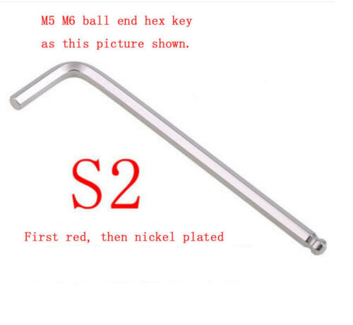 M1.5-M17 Metric Allen Wrench Super hard Hex Key L-Wrenches S2 Bronze