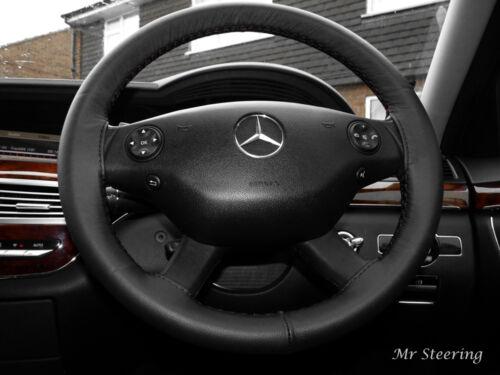 Pour Mercedes Vito 2010-2013 Luxe Véritable Cuir Noir Volant Couverture