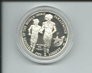 USA-Atlanta-1996-Olympiade-1-Dollar-Blinder-Laeufer-Blindenlauf-26-73-g-Silber-PP