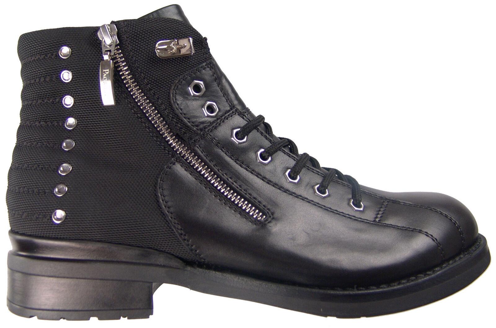 850 Cesare Paciotti US 10 Ankle stivali Italian Designer Biker Combat scarpe