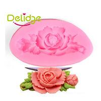 Rose Flower Silicone Cake Mold Fondant Chocolate Decorating Baking Mould