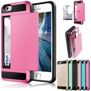 Slide-Card-Pocket-Holder-Wallet-ShockProof-Hybrid-Armor-Case-Hard-Back-Cover