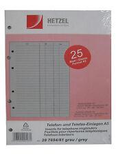 Hetzel Visitenkartenbuch Telefonbuch Ordner Ringbuch A5 Grau