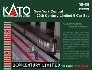 Kato-106-100-New-York-Central-20th-Century-Limited-N-1-160-9-Car-Set-PRE-ORDER