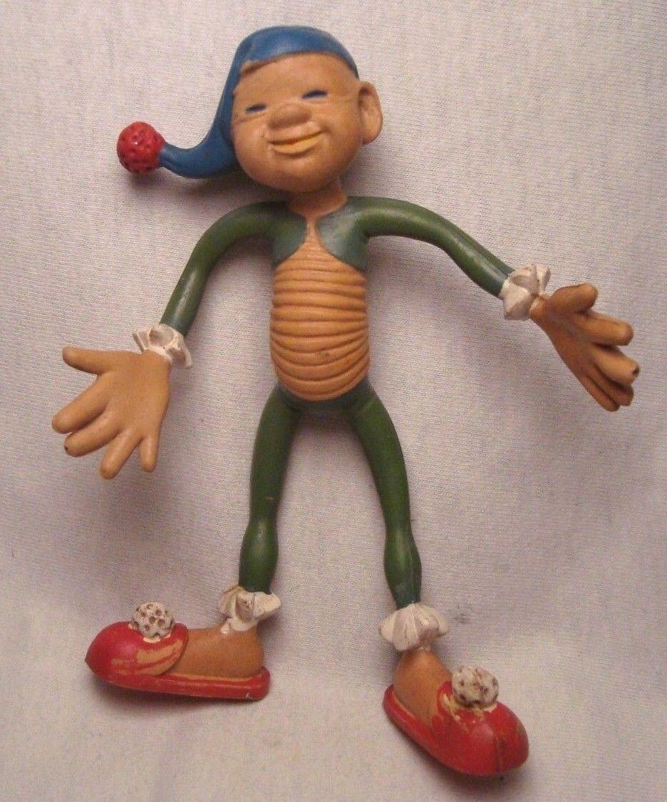 Schleich biegefiguren extremamujerte rara Vintage Década de 1950 Flexible figura W. Alemania
