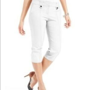 Details About Style Co Tabbed Capri Skimmer Pant Size 8