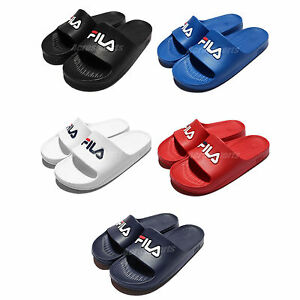 ca69d42cda7e Fila All Solid Series Mens Sports LOGO Sandal Slides Rubber Slippers ...