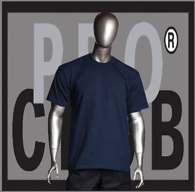 PRO CLUB COMFORT T SHIRT Navy Mens Big and Tall Crew Short Sleeve 3X-7XL