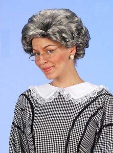 Onorevoli grigio NONNA Nonna Parrucca con anziana signora madre Hubbard Strega Fancy Dres