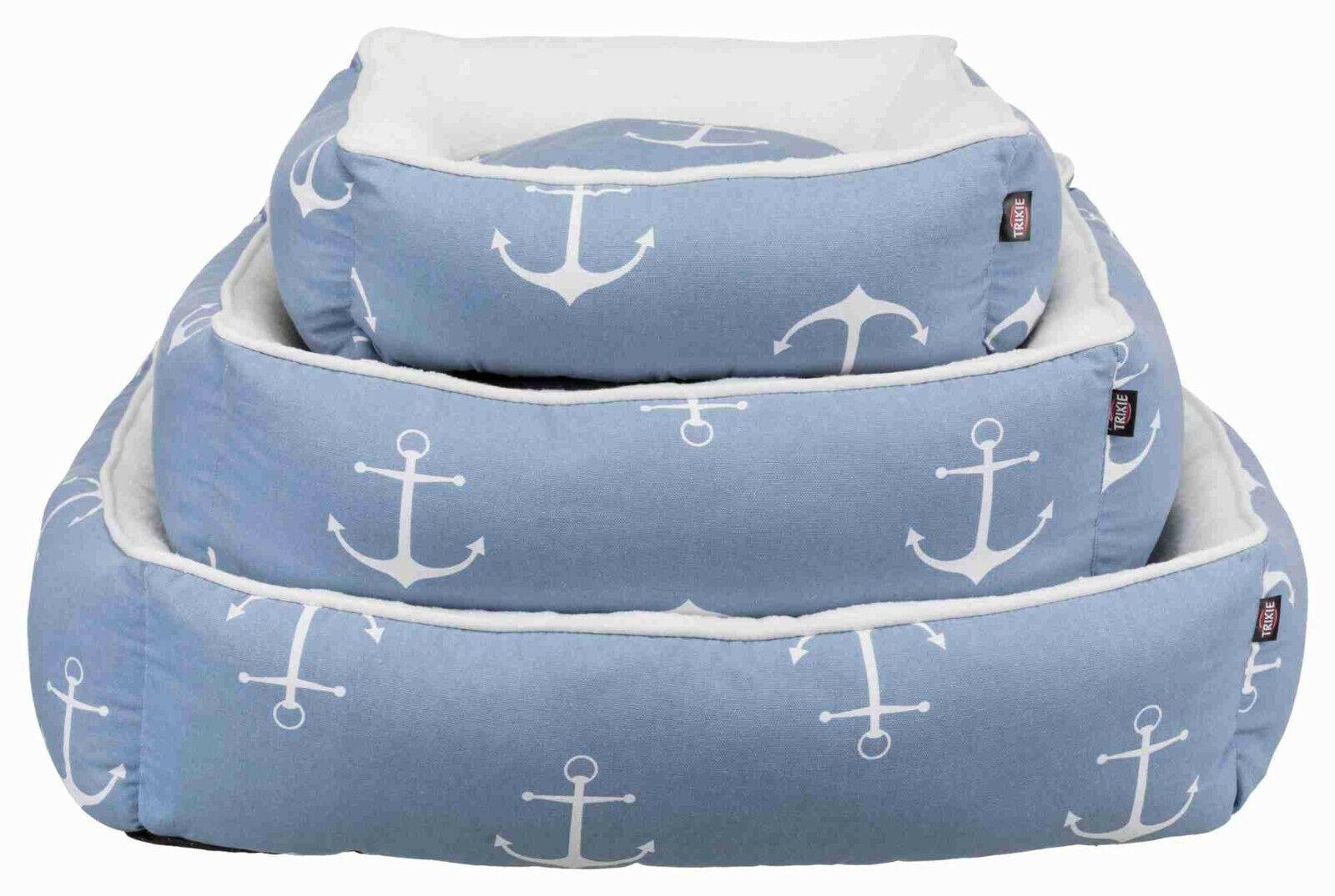Trixie Bett Anker blau weiß für Hunde, Katze diverse Größen, NEU
