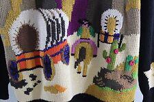 Berek 100% Pima Cotton Cowboy Western Theme Ugly Sweater Size M Medium
