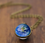 Solar-System-Pendants-Necklace-Galaxy-Planet-Necklace-S-Double-Sided-Glass-Dome thumbnail 9