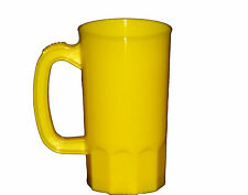 8 Large 32 Ounce Yellow Plastic Beer Mugs Made America Dishwasher Safe Top Shelf