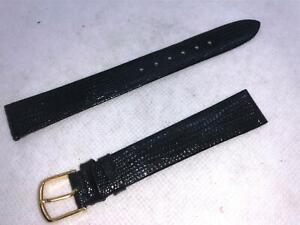 Vintage-JB-Champion-11-16-Long-17mm-Black-Lizard-Calf-Leather-Watch-Bands-441