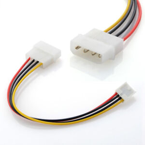 4-Pin Molex to Floppy Drive Power Adapter Cable