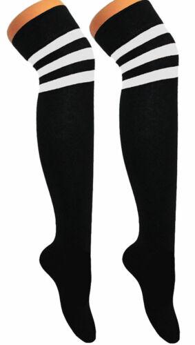 Referee Football Basketball Sports OVER KNEE THIGH HIGH STRIPY Women Socks Girls