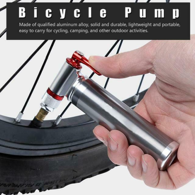 Portable Bike Bicycle Tire Air CO2 Inflator Pump Valve Head Presta Schrader