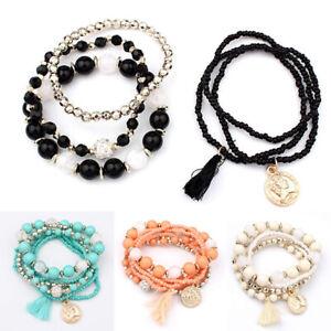 6Pcs-Multilayer-Natural-Stone-Crystal-Bangle-Beaded-Bracelet-Women-Charm-Jewelry