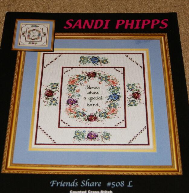 Cross Stitch: Sandi Phipps Friends Share Leaflet # 508L