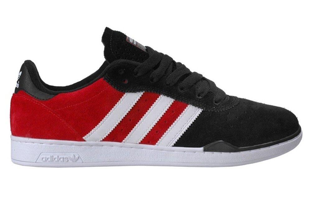 Adidas RONAN Black Red White Suede (153) Men's Skateboarding Shoes