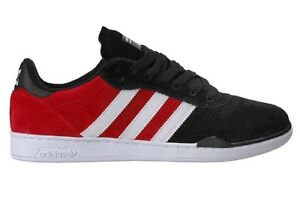 1be07e1f9093 Adidas RONAN Black Red White Suede (153) Men s Skateboarding Shoes ...