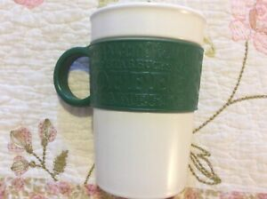 About Rubber Starbucks With Ceramic 2008 Oz Green Silicone Cup Details Handle 12 White Mug oQECrxBeWd