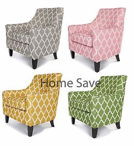 Image Is Loading New Richmond Club Chair Armchair Grey Yellow Pink