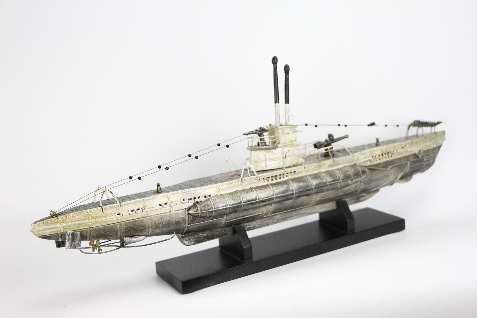 Submarino U-boat Modelismo 48 cms Barco Maqueta Capitán