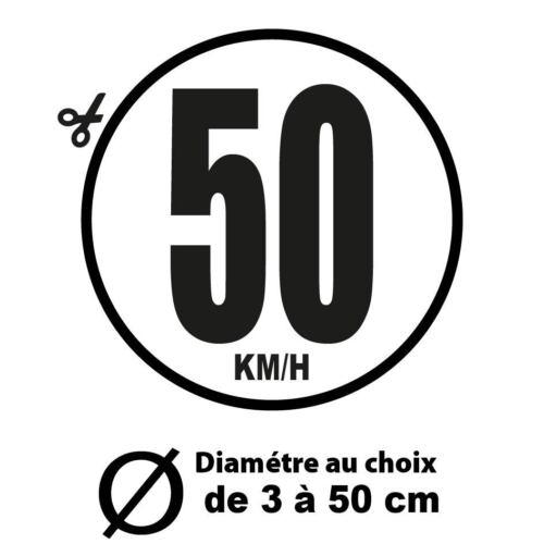 50 KM//H LIMITATION VITESSE BUS TRACTEUR POIDS LOURD ADHÉSIFS AUTOCOLLANT STICKER