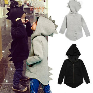 Child-Kids-Baby-Dinosaur-Style-Hooded-Coat-Boys-Girl-Outwear-Jacket-Tops-Clothes