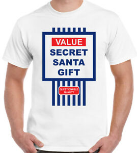 83a810db Tesco Value Style Secret Santa Gift - Mens Funny Christmas T-Shirt ...