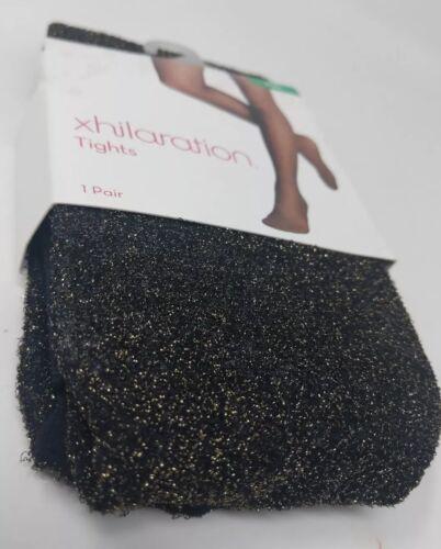 Xhilaration Women/'s Tights Black//Gold Sparkle Dots M//L New
