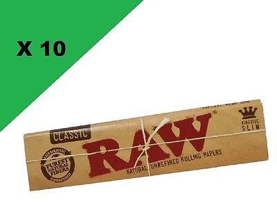 Raw Slim Classic lot de 10 carnets de feuille à rouler longue