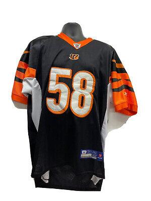 Reebok On Field Rey Maualuga CINCINNATI BENGALS #58 Authentic NFL JERSEY Sz XL52 | eBay