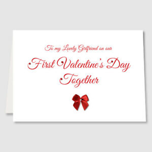 Personalised first valentines day together card for girlfriend image is loading personalised first valentines day together card for girlfriend m4hsunfo