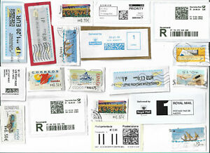 World-ATM-Automatic-machine-labels-type-postage-stamps-x-51-Batch-5
