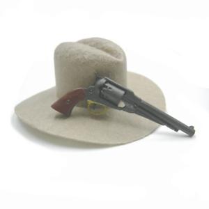 1//6 Battle Gear Toys Revolver Rémington 1858 crosse marron 891 01 Civil War
